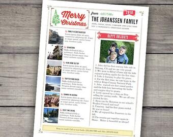 family newsletter etsy