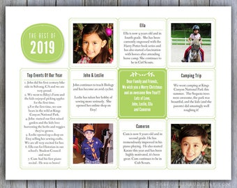 Year In Review Newsletter Template in PDF for Print / | Etsy