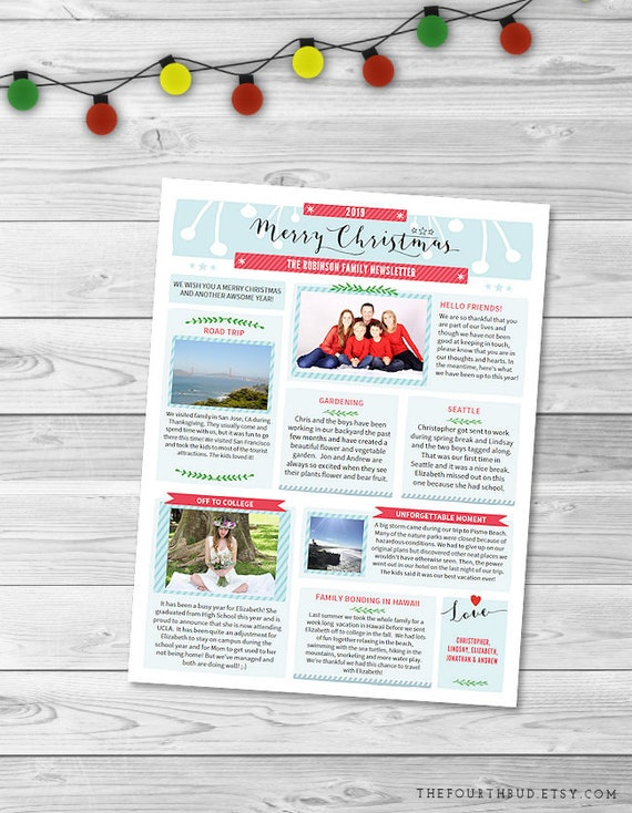 Christmas newsletter template in pdf for print merry etsy image 0 maxwellsz