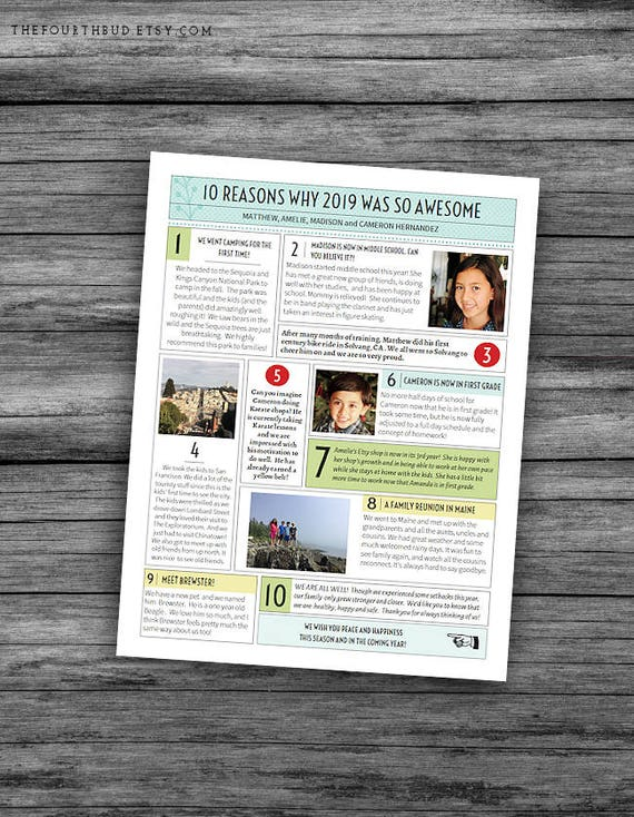 image 0 - Christmas Newsletter Template