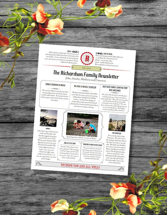 Year in review newsletter template in pdf for print spiritdancerdesigns Image collections