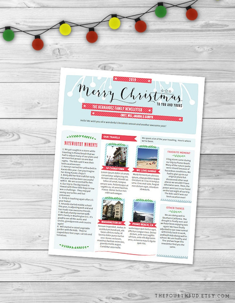Christmas Letter Template in PDF For Print /