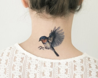 Temporary Tattoos Bird Collection (Includes 3 Tattoos)