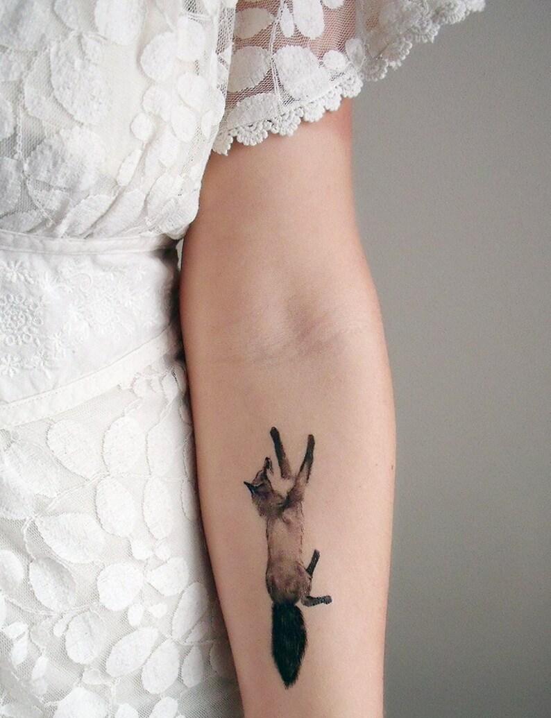 73a195e63 Temporary Tattoos Fox and Rabbit Includes 2 tattoos | Etsy