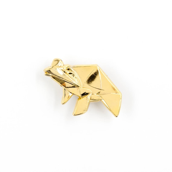 Origami Lucky Frog Hard Enamel Lapel Pin Chinese Good Fortune Etsy