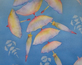 Umbrella Jellyfish Original Watercolour Painting