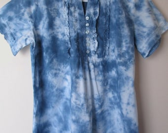 Tie Dyed Cotton Blouse Size 10 TDC212