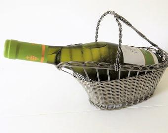 Vintage French Wine Basket Pouring Basket, French Wine Basket, Lambic Basket