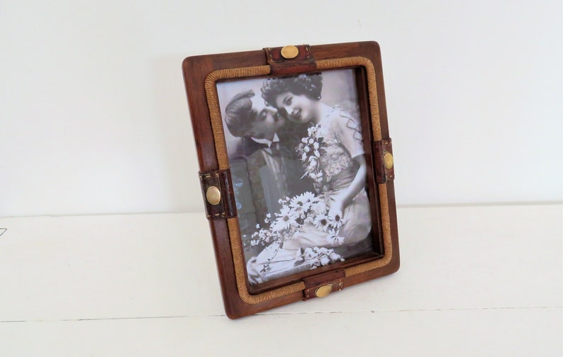 Vintage French Hand Crafted Photo Frame Man Cave image 0