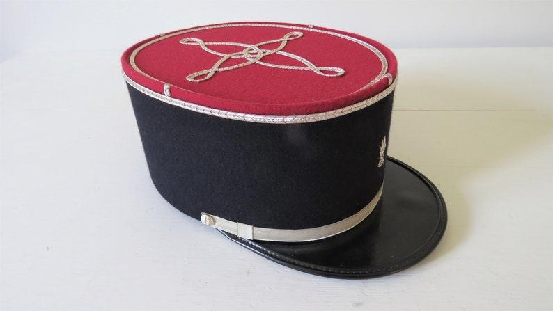 Vintage French Gendarmes Kepi Hat image 0