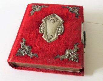Antique French Art Nouveau Photo Album, Antique French Album, French Velvet Photo Album, Antique Album, Art Nouveau Photo Album