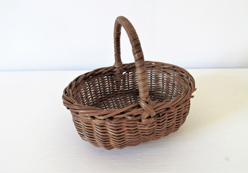Vintage French Miniature basket image 0