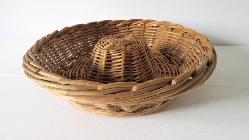 Vintage French Bread Proving Basket Bread Basket SHIPPING image 0