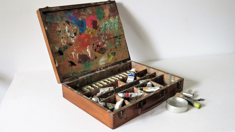 Vintage French Bourgeois Aine Painting Box No 3001 image 0