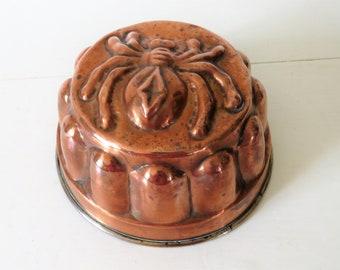 Antique French Copper Mould Spider, Antique French copper Mould, Copper Mould