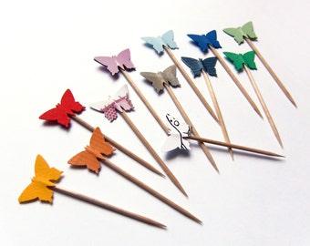 butterfly toothpicks etsy