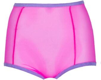304ff4bb0ba5 Items similar to Sheer Black Mesh High Waist Lingerie Panties / Sexy ...