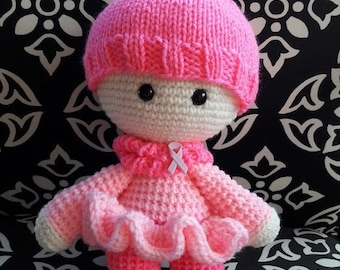 Grace the Breast Cancer Survivor Doll