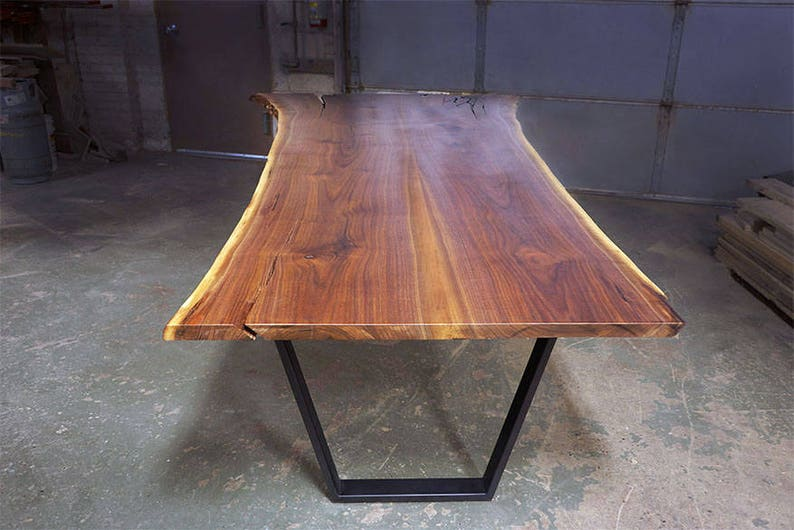 Pleasant Live Edge Black Walnut Table Badger State Live Edge Table Download Free Architecture Designs Sospemadebymaigaardcom