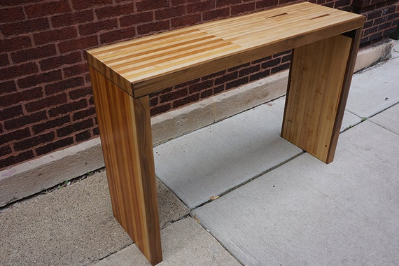 Super Reclaimed Bowling Alley Console Table Gmtry Best Dining Table And Chair Ideas Images Gmtryco