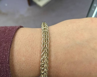 Silver Full Persian Weave Chainmaille Bracelet