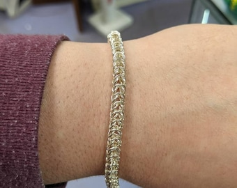 Small Silver Box Chain Chainmaille Bracelet