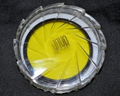 Hoya Camera Filter Yellow for Black and White Film with Plastic Case Original Box, Vintage Camera Accessory