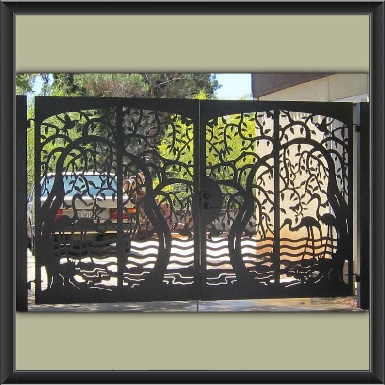 Urban design Modern Metal Gates ,Custom Driveway gates, metal gate
