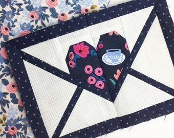 Happy Mail Block - PDF Foundation Paper Piecing Pattern