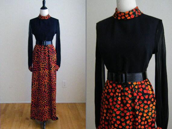 Vintage Futura Couture of NY Evening Maxi Dress