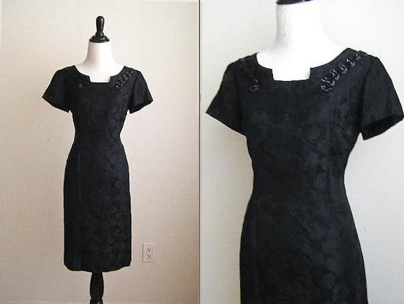 Vintage Mad Men Little Black Dress