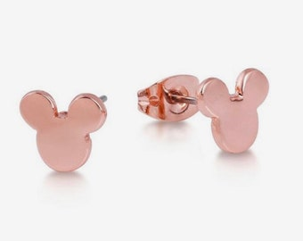 7c0db8a92 Disney Mickey Earrings Rose Gold - Minimal jewelry Perfect Vacation gift for  mother and daughter ships from US FREE shipping offer
