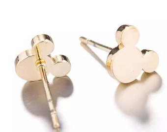 990a77037 Disney Mickey Earrings - Minimal jewelry Perfect Vacation gift for mother  and daughter ships from US FREE shipping offer silver or gold