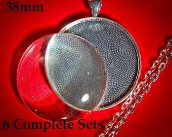 sampler set of Various settings photo charms Great Starter Set 12 DIY Jewelry Making Pendant Assortment