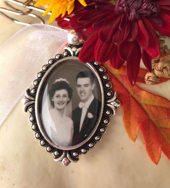 Walk Me Down The Aisle Wedding Bouquet Photo Charm In