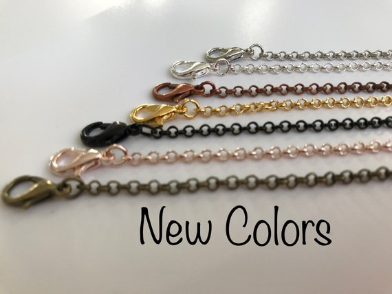 GREAT Quality- Loop Copper or Black 50-24 inch Necklace Chain for Pendant Jewelry Making  Bronze Antique Silver 3 mm wide
