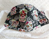 Reusable Face Mask with Filter Pocket Sugar Skulls