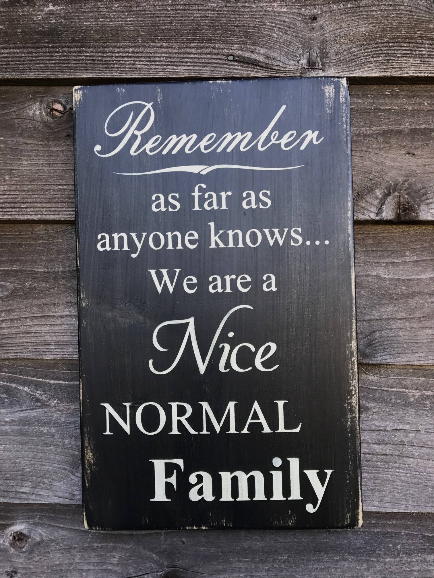 Country Home Decor Wood Signs Family Rules