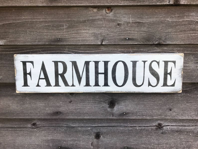 Farmhouse Sign Decor Primitive Home Rustic