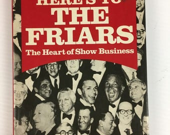 Here's To The Friars by Joey Adams - Vintage Hardcover Book 1976 (Comedy Club)