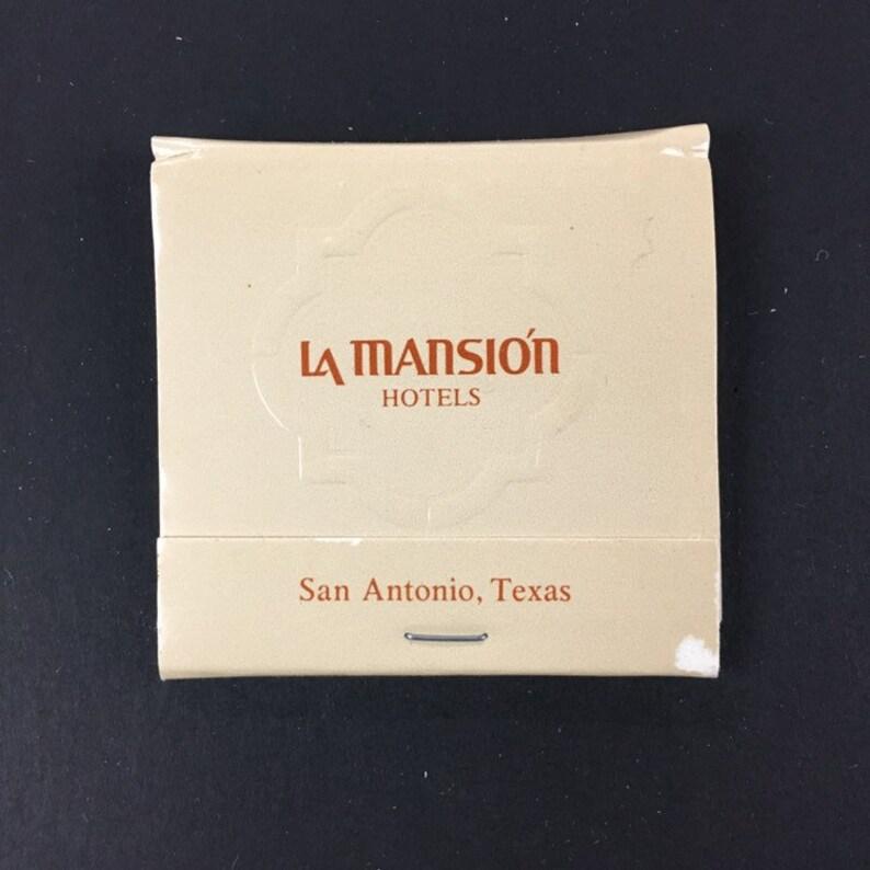 San Antonio TX La Masion Hotels Vintage Matchbook 4 matchbooks