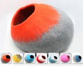 40cm, 50cm Wool Felt Gradient Cat Bed Felted Cat Bed Felt Cat House Fair Trade 100 Wool and Handmade FREE SHIPPING