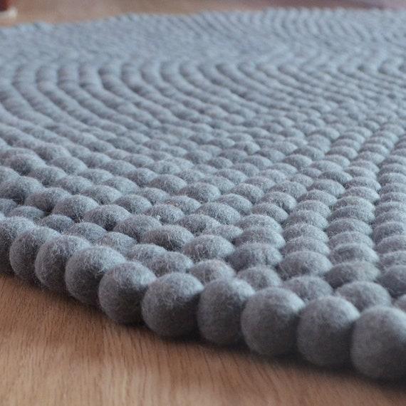 Room Felt Ball Carpet FREE SHIPPING 100/% Wool and Handmade Fair Trade Room Felt Carpet Felt Round Rugs 40cm Wool Felt Ball Rug
