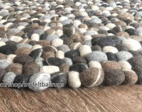Tappeto di ciottoli tondo cm cm pietra tappeto in etsy