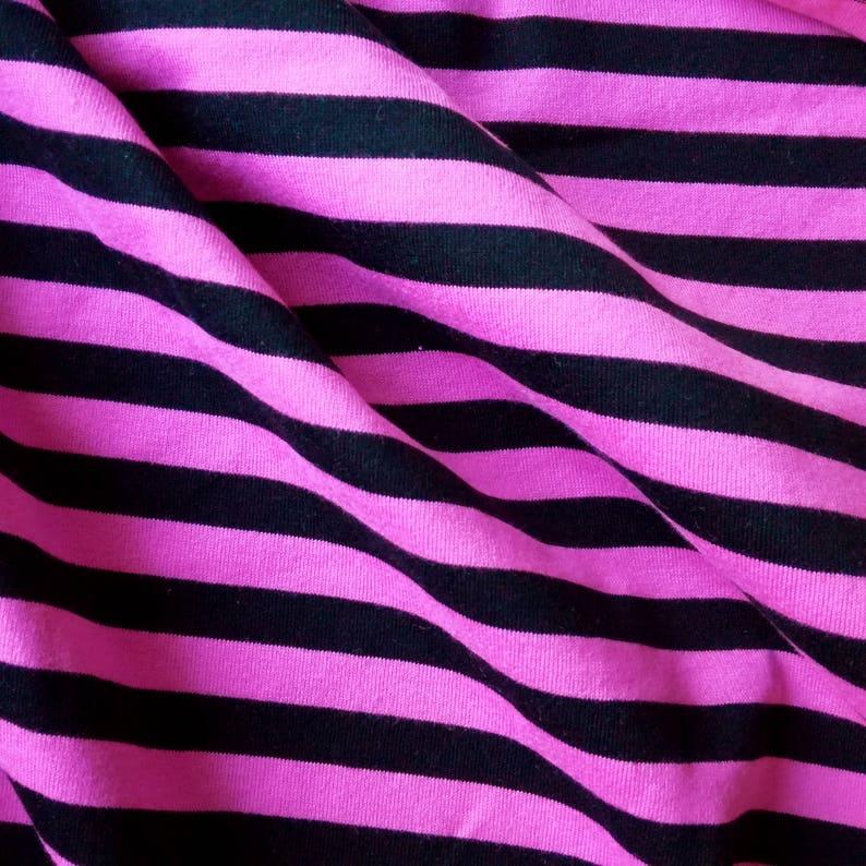 62ffe22d8e9 Marimekko Jersey Knit Fabric Piece Striped Pink Black | Etsy