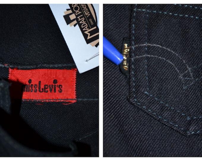 Rare Vintage Miss Levi's Big E 1970's 70's Black Flared Trousers Levi
