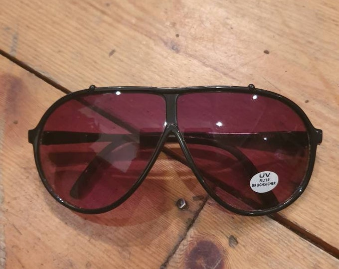 Vintage Jordache JO87100z Aviator 1980s Sunglasses with original sticker unisex