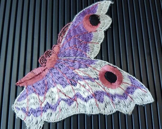 Vintage 1930s Turmac CA silk applique Butterfly  Patch 30s art nouveau