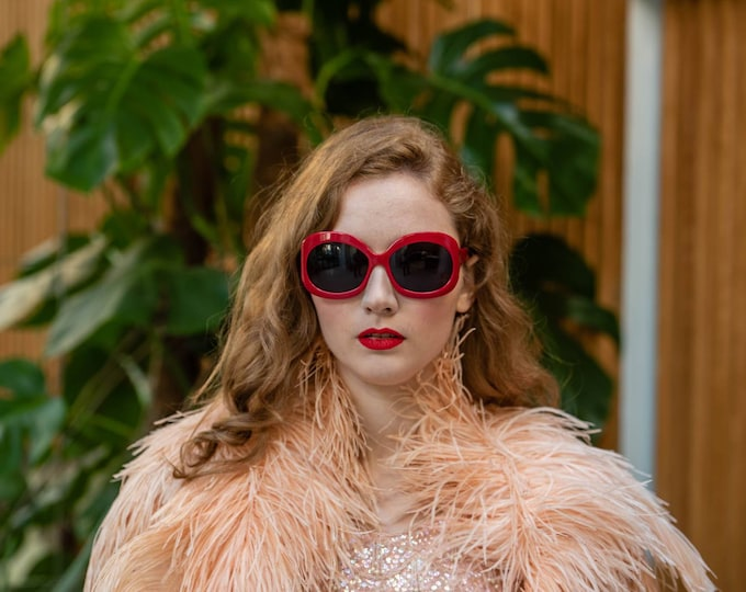 Vintage Oversized Givenchy Sunglasses In Red 90s?