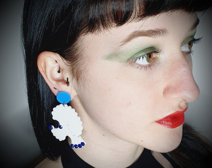 Super Cute Poodle  Earrings for pierced ears.